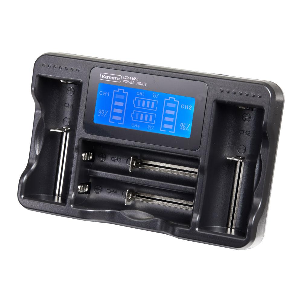 Kamera LCD- 18650  液晶充電器 (四槽旗艦版)