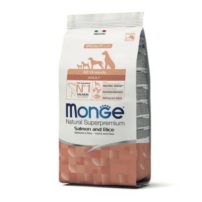 Monge瑪恩吉 天然呵護 成犬糧(鮭魚+米)12kg
