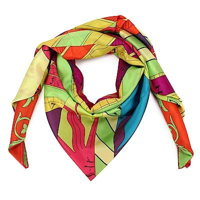 HERMES Astrologie Nouvelle Ver 真絲披肩方型大絲巾圍巾-多色