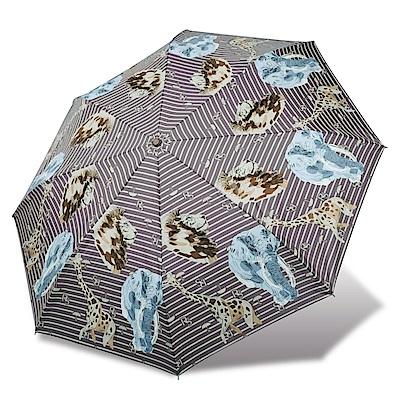 RAINSTORY 野生動物抗UV雙人自動傘(咖啡)