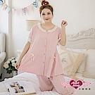 天使霓裳 氣質蜜糖 二件式短袖居家孕婦套裝月子服(粉F)