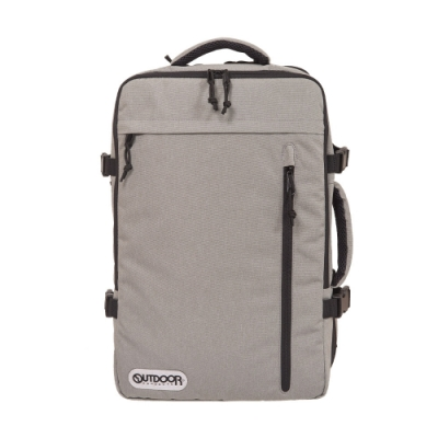 【OUTDOOR】悠遊寰旅-17吋筆電後背包-淺灰色 OD101132GY