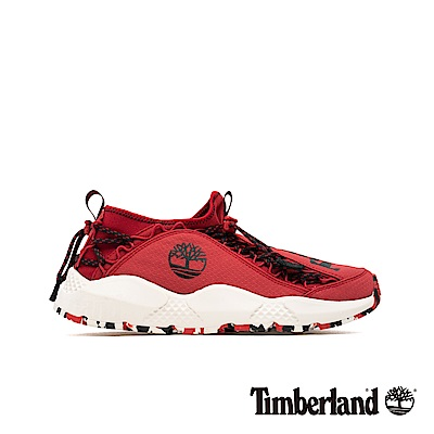 Timberland 男款NNH中紅色織物運動鞋|A1UWE