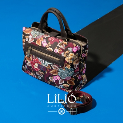 【LILIO】 栗色_磁扣式托特手提包_都市時尚_WINTER  POPPY