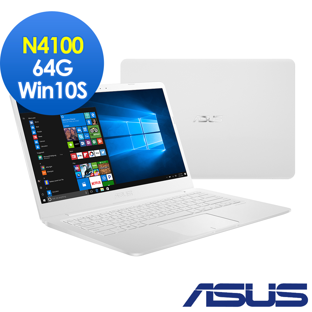 ASUS E406MA 14吋窄邊框筆電(N4100/4G/64G/LapTop/Win10S) product image 1