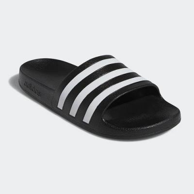adidas 涼拖鞋 休閒 運動拖鞋 女鞋 黑 G28723 Adilette Aqua