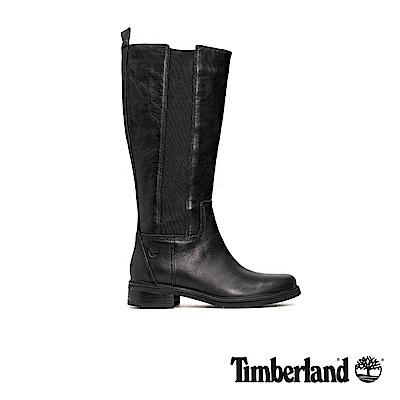 Timberland 女款黑色全粒面皮革及膝靴|A1SBV