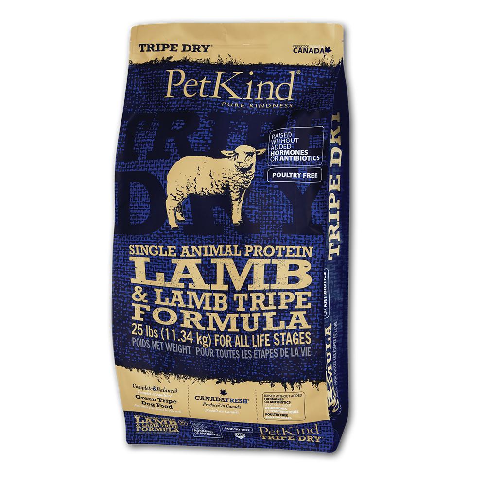 PetKind 野胃 天然鮮草肚狗糧 低敏羊肉 25磅