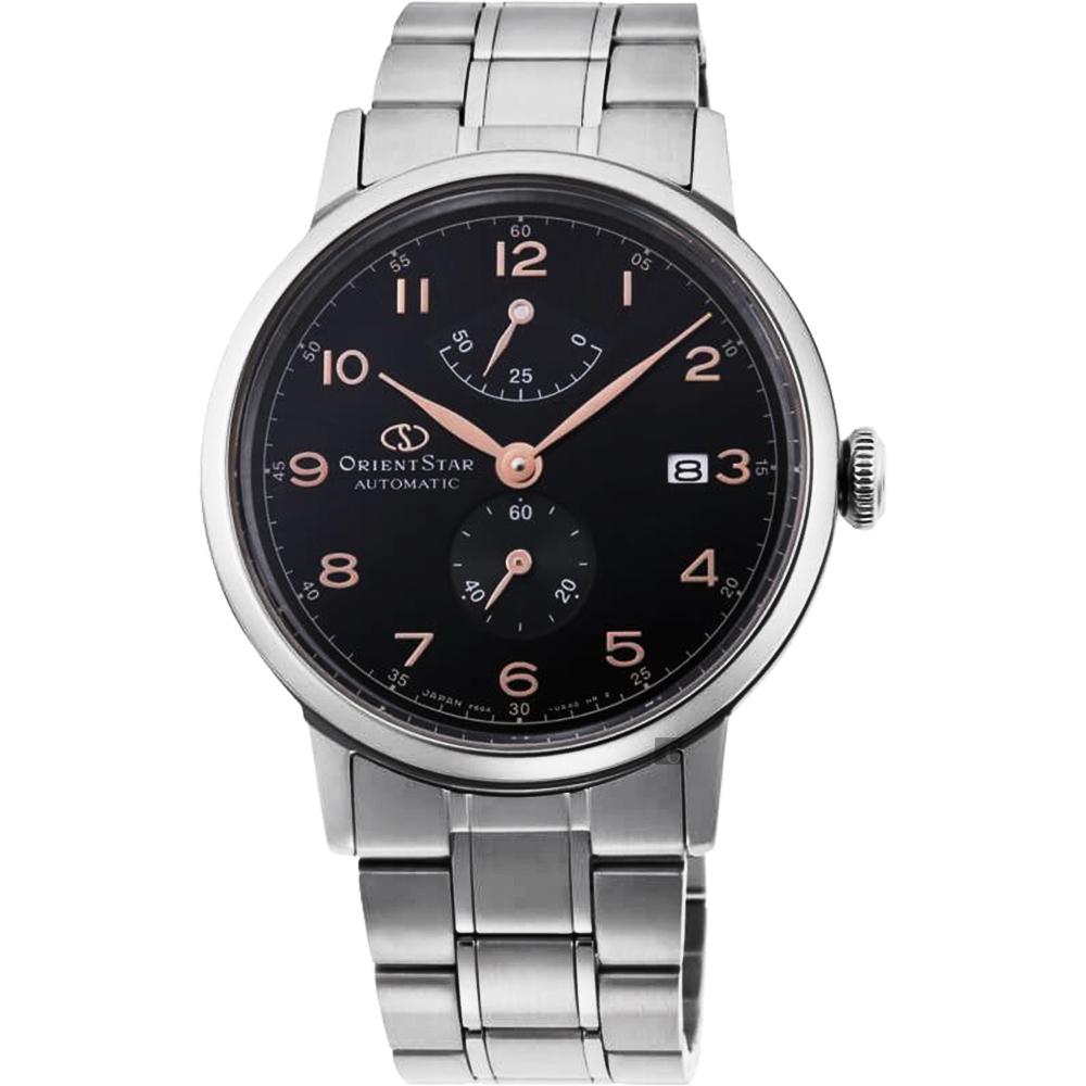 ORIENT STAR 東方之星 HERITAGE 復刻機械錶-黑x銀/38.7mm