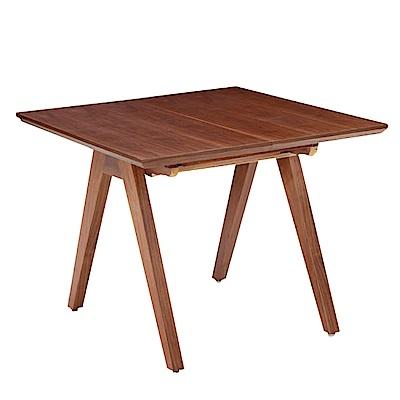 文創集 森尼時尚3.2尺實木拉合機能餐桌(不含餐椅)-97x97x75cm免組