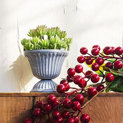 【Meric Garden】西方古典多肉植物微景觀鐵藝聖杯(S)