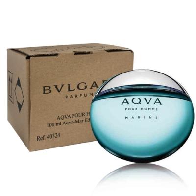 *BVLGARI 寶格麗活力海洋水能量男性淡香水 100ml(tester/環保盒包裝/試用品)