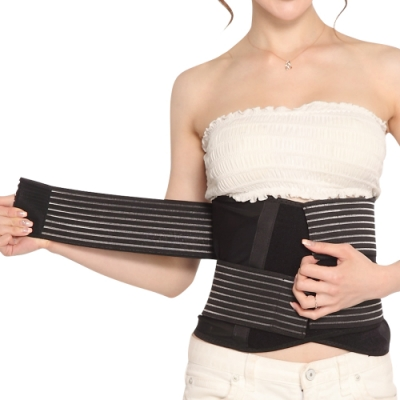 【JS嚴選】*絕殺加碼*9吋寬版可調式竹炭透氣網紗腰帶(送拇指護腕)