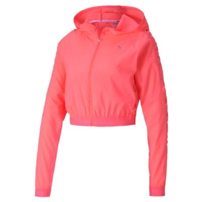 PUMA-女性訓練系列Be Bold連帽風衣外套-燃粉紅-歐規