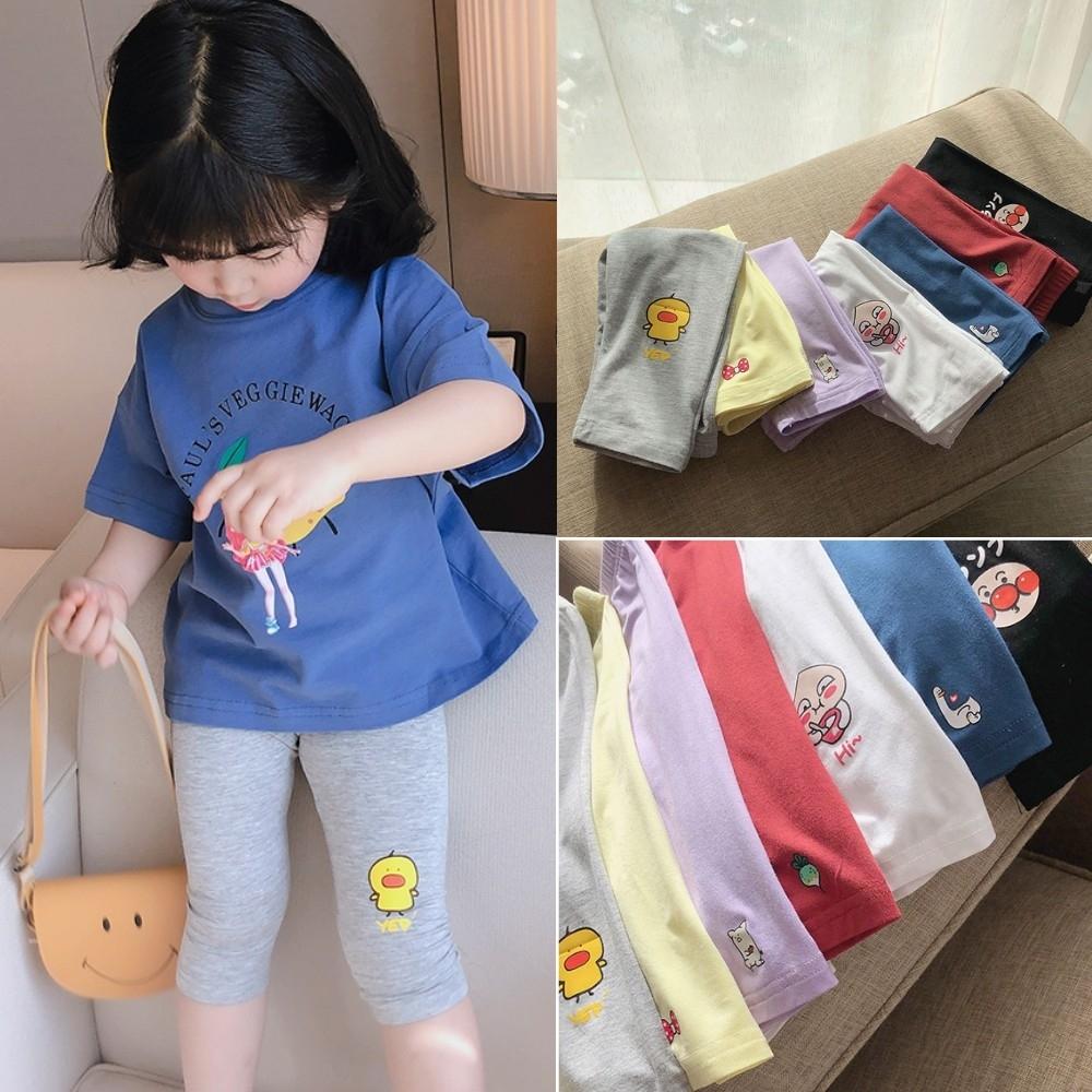 小衣衫童裝 女童可愛小印花莫戴爾七分內搭褲1090515