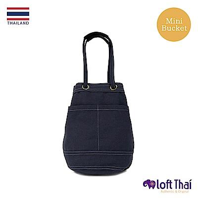 Loft THAI | 泰.兩用帆布水桶包(小) | Navy