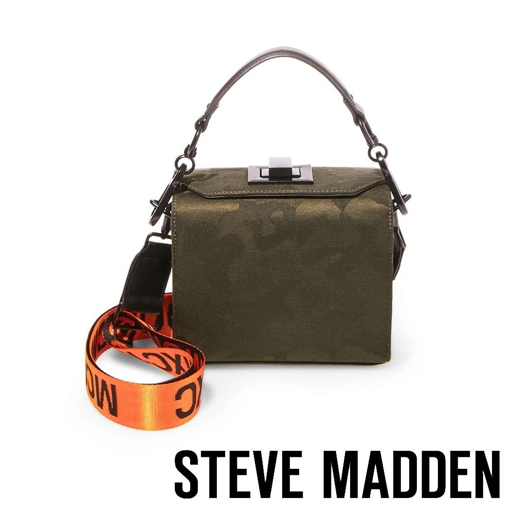 STEVE MADDEN-BVIANA印花錶帶手提斜背兩用迷彩包-特殊紋墨綠色
