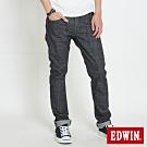 EDWIN  EDGE LINE 漸層袋花 窄直筒牛仔褲-男-黑色