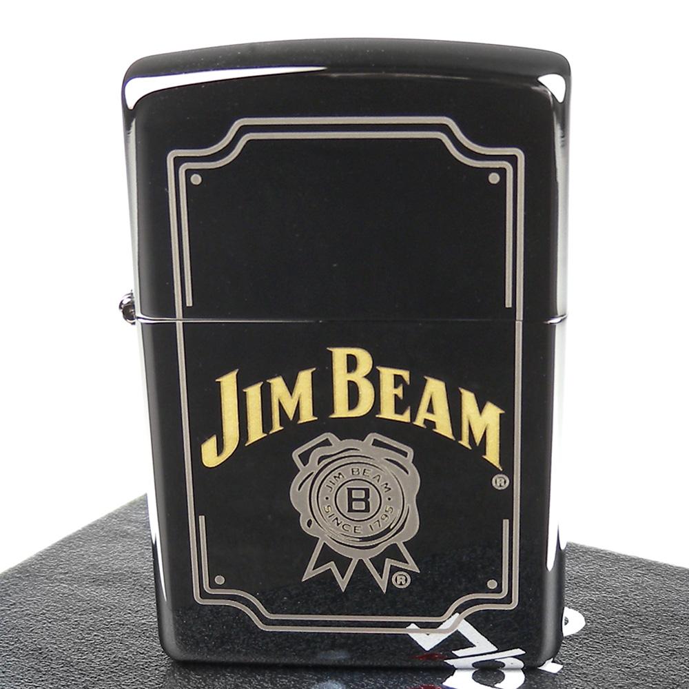 ZIPPO 美系~JIM BEAM金賓波本威士忌-標誌圖案設計打火機
