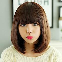 米蘭精品 女假髮整頂短假髮-修臉可愛逼真女美髮用品3色69o73
