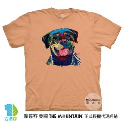 摩達客-美國進口The Mountain 快樂羅威納犬 純棉環保藝術中性短袖T恤