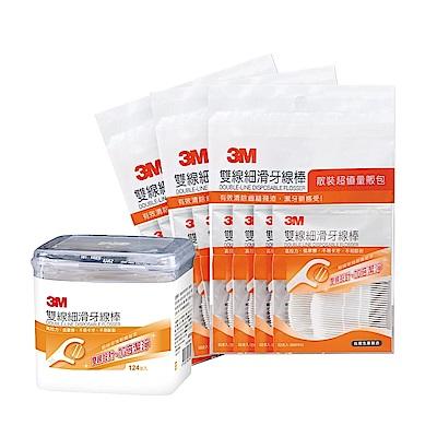 3M 雙線牙線棒量販包 (1盒+3包/共508支)
