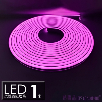 LGS燈條(1米)12V柔性霓虹燈條 LED燈條 防水防曬(1入)