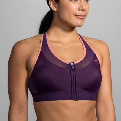 BROOKS FASTFORWARD ZIP包覆系列運動內衣 紫(300637543)