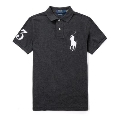 Polo Ralph Lauren 年度熱銷刺繡大馬短袖POLO衫(CUSTOM SLIM)-深灰色
