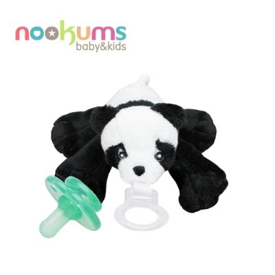 nookums 美國  寶寶可愛造型安撫奶嘴 / 玩偶 - 熊貓寶寶