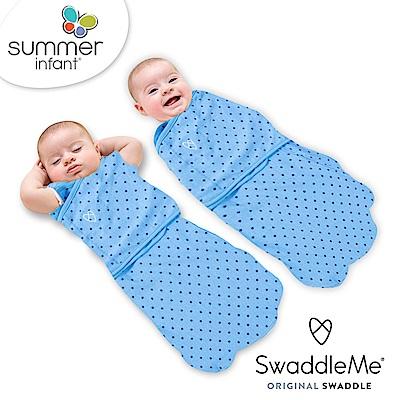 美國 Summer Infant 2合1 聰明懶人育兒包巾睡袋 - 美式藍星