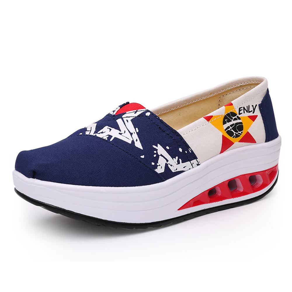 韓國KW美鞋館 閃亮星星健走鞋-藍色