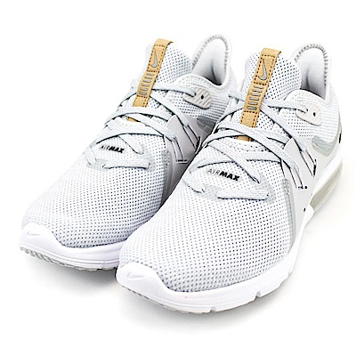 NIKE-AIR MAX SEQUENT 3女慢跑鞋-灰