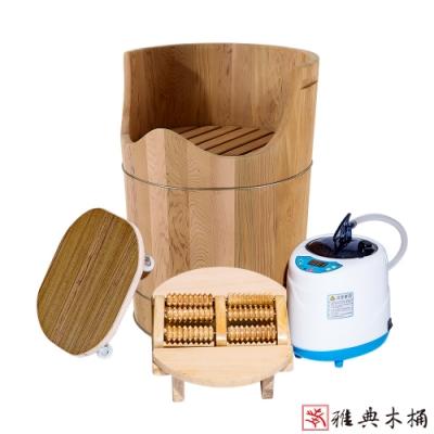 【雅典木桶】天然無毒 芬多精 實木傢俱 加拿大檜木蒸腳泡腳桶(附坐板) 高65CM