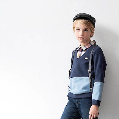 PIPPY 個性假兩件式上衣 藍