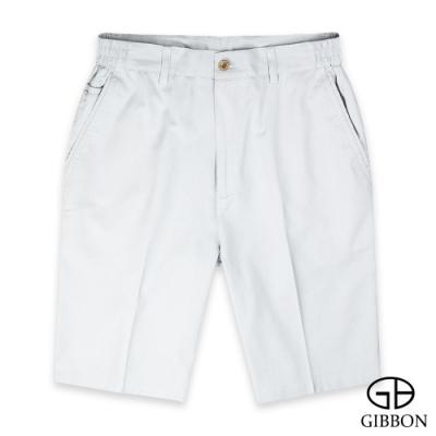 GIBBON 極簡風天絲棉透氣短褲‧淺灰