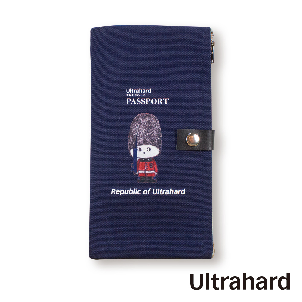 Ultrahard 月見兔雙拉鍊收納袋-小騎兵(大英藍)