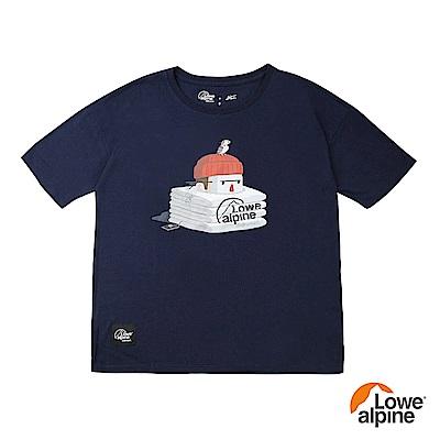 Lowe alpi Silvermar女款Abei聯名插畫T恤-03 海軍藍
