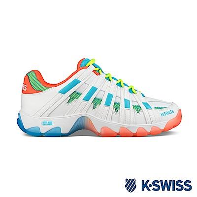 K-Swiss ST429休閒運動老爹鞋-女-白/橘/藍
