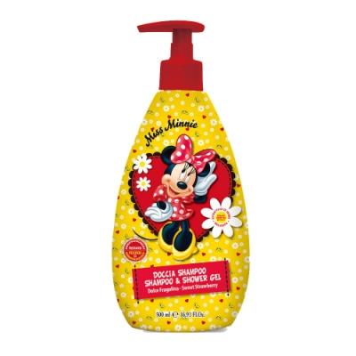 自然之綠 經典米妮草莓香氛雙效洗髮沐浴露 500ml