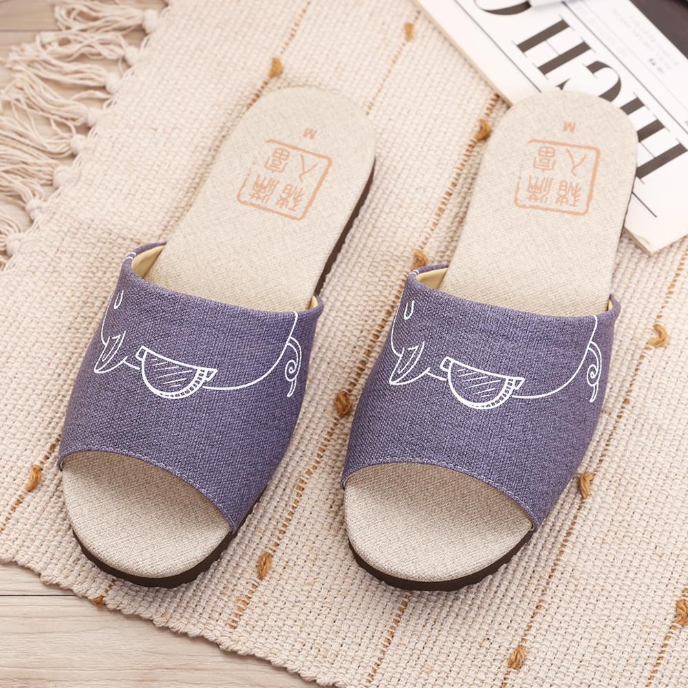 【維諾妮卡】豬入滿富室內皮拖鞋-招財紫