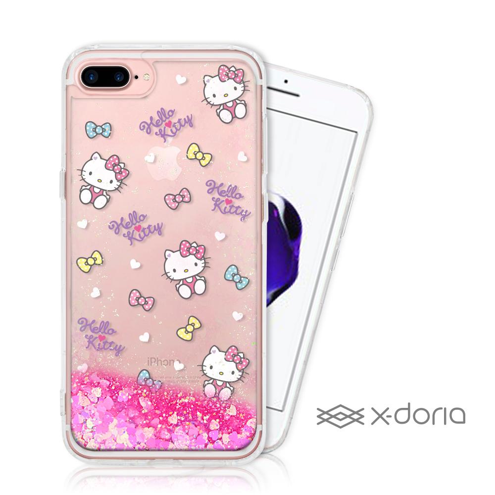 Hello Kitty iPhone 7/8 Plus 亮片流沙手機軟殼 - 繽紛