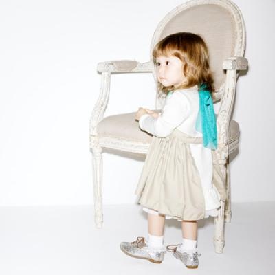 MARLMARL兒童用餐圍裙 女孩/卡其(KIDS 100-110cm)
