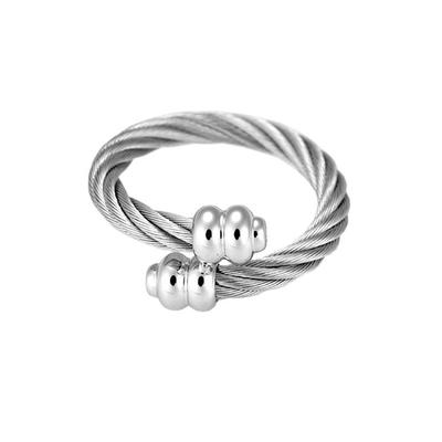 CHARRIOL 夏利豪 RING CELTIC SCEAU系列 經典鋼索銀色戒指(0201171S)