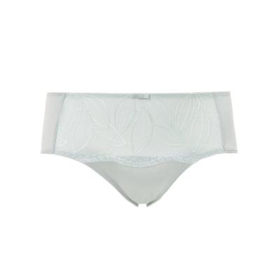 黛安芬-飄舞水感動系列 超細纖維中腰平口內褲 M-EL 霧綠色