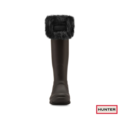 HUNTER - 配件 - 毛毛高筒襪套 - 黑