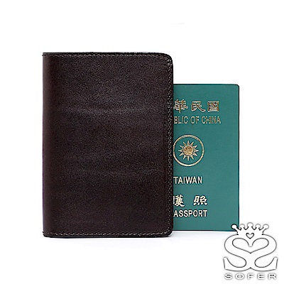 SOFER 全手工義大利樹羔皮多層護照夾 - 共3色