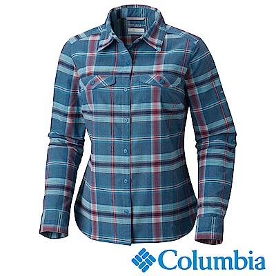 Columbia 哥倫比亞 女款-Omni-Wick快排長袖襯衫墨藍UAK02890