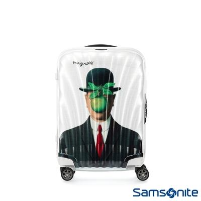 【9/1~10/1 10:00買就送1000超贈點】Samsonite新秀麗 x Magritte 20吋C-LITE極輕Curv材質經典貝殼登機箱(MAN OF SON)