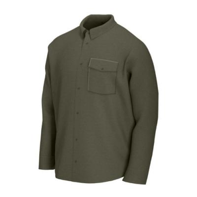 Nike 襯衫 SB Flannel Skate Top 男款 運動休閒 滑板概念 磨毛 穿搭 休閒 口袋 綠 CV4450325